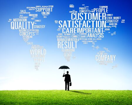 quality work: Customer Satisfaction Reliability Quality Service Concept Stock Photo