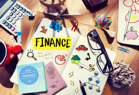 Finance Accounting Adhesive Note Banking Budget Business Concept Banque d'images