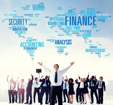 contabilidad: An�lisis Global Finanace Seguridad Gesti�n Contabilidad Concepto Foto de archivo
