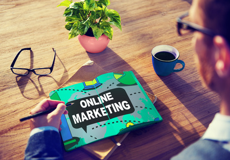 Online Marketing Promotion Branding Advertisement Concept Stock Photo
