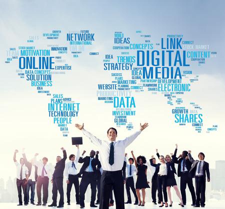 Digital Media Online Social Networking Communication Concept photo