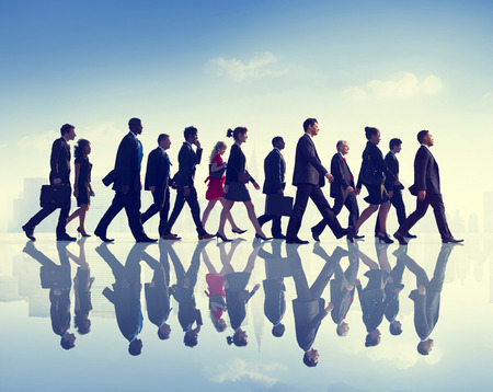 diversity people: Business People Commuter Walking City Concept