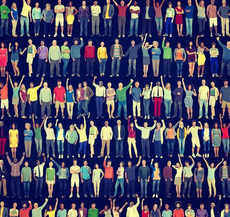 People Diversity Success Celebration Happiness Community Concept 写真素材