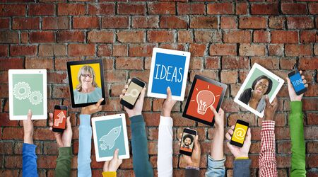 concept and ideas: Digital Devices Vision Creativity Planning Tactic Ideas Concept Stock Photo