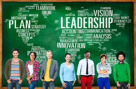 management training: Leadership Boss Management Coach Chief Global Concept