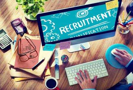 Recruitment Kwalificatie Missie Application Werkgelegenheid inhuren Concept