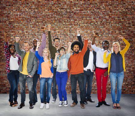 brick wall background: Diverse Diversity Ethnic Ethnicity Unity Variation Concept Stock Photo