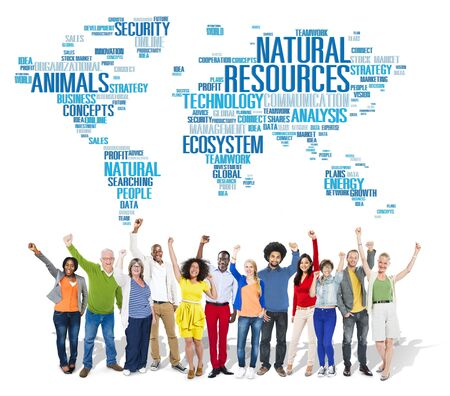 natural resources: Natural Resources Environmental Conservation Sustainability Concept Stock Photo