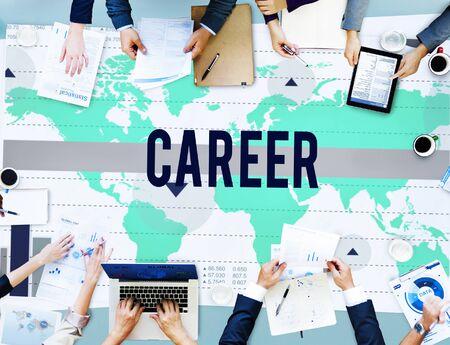 job occupation: Career Job Occupation Business Marketing Concept