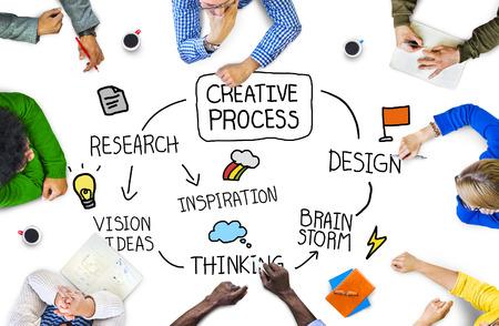concepto de proceso creativo con personas en una reunión Foto de archivo