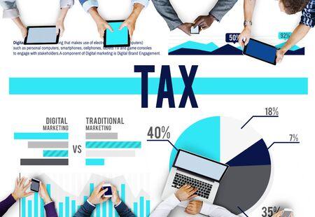 exemption: Tax Banking Business Finance Audit Concept