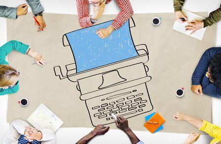 Typewriter Typography Publishing Equipment Publishing Concept