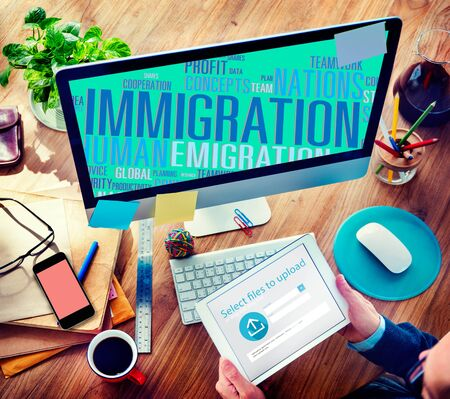 Immigration International Government Law Customs Concept photo