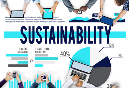 resourceful: Sustainability Conservation Resources Strategy Business Concept