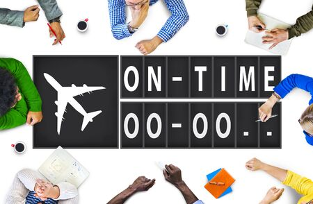 stipt: On Time Punctueel Efficiency organisatie management Concept Stockfoto