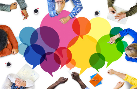 Casual People Zpráva mluví komunikační koncept