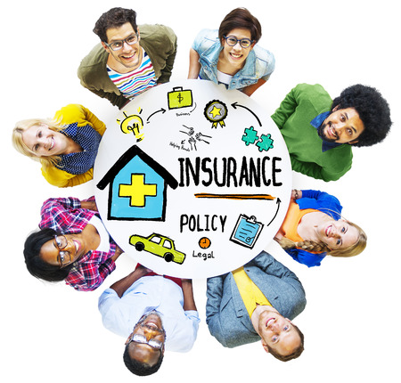 Diversity Casual People Insurance Policy Communication Team Concept photo