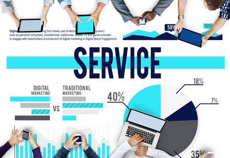 reliable: Service Support Reliable Customer Satisfaction Marketing Concept