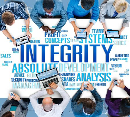 national trust: Integrity Structure Service Analysis Value Service Concept Stock Photo
