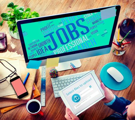 internet search: Jobs Occupation Careers Recruitment Employment Concept