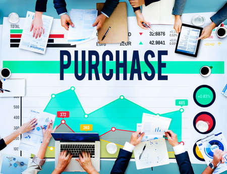 purchase: Purchase Buy Commerce Shopping Retail Market Concept Stock Photo