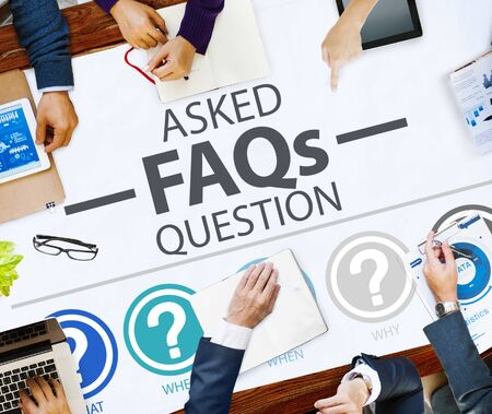 frequently asked questions: Frequently Asked Questions FAQ Problems Concept