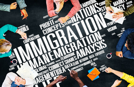 immigration: Immigration International Government Law Customs Concept