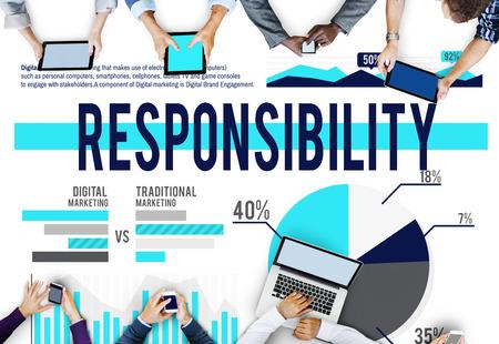 liability: Responsibility Roles Duty Job Liability Concept