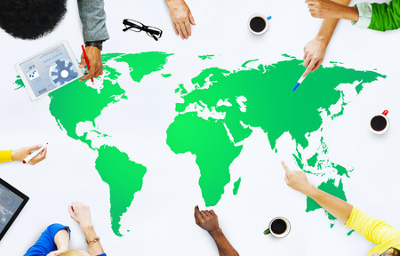 Green Business Environment Global Conservation Concept Stock Photo