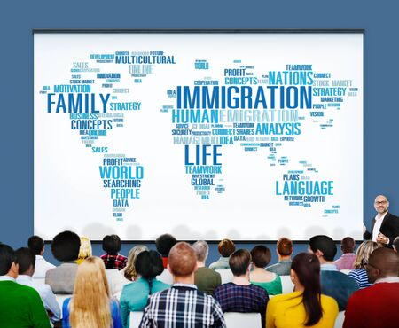 customs: Immigration International Government Law Customs Concept