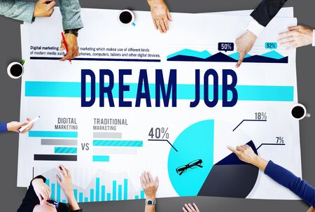 dream job: Dream Job Goal Plan Business Marketing Concept Stock Photo