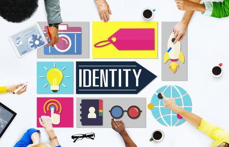 Identiteit Branding Brand Marketing Business Concept
