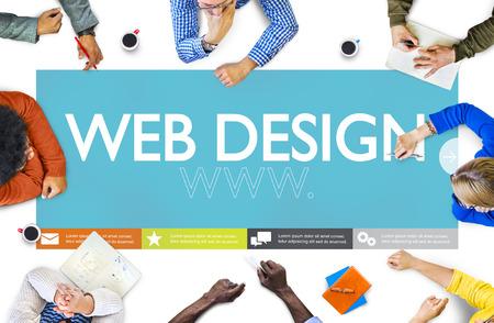 bureau design: Www Web Design Page Web Site Web Concept Banque d'images