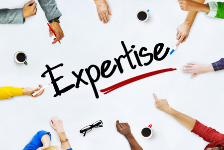 expertise concept: People Working and Expertise Concept