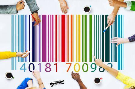 Barcode data marketing concept Stock Photo