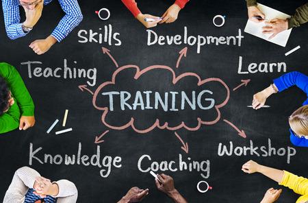 training: Diverses personnes et de formation Concepts Banque d'images