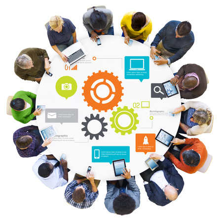 gear: Team Teamwork Cog Functionality Technology Business Concept Stock Photo