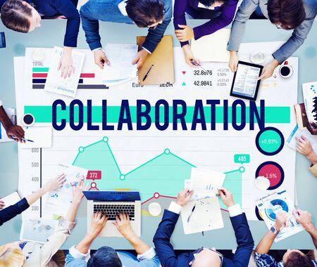 other keywords: Collaboration Team Teamwork Partnership Concept Stock Photo