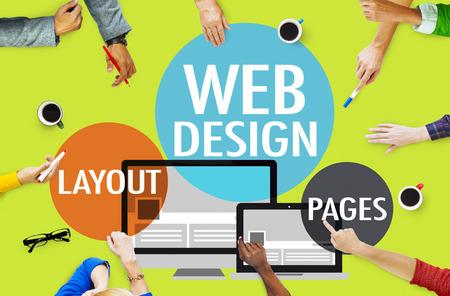 web conference: Web Design Content Creative Website Responsive Concept