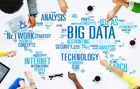 information analysis: Big Data Storage Information World Map Concept