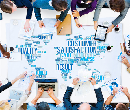 Customer Satisfaction Reliability Quality Service Concept Banco de Imagens