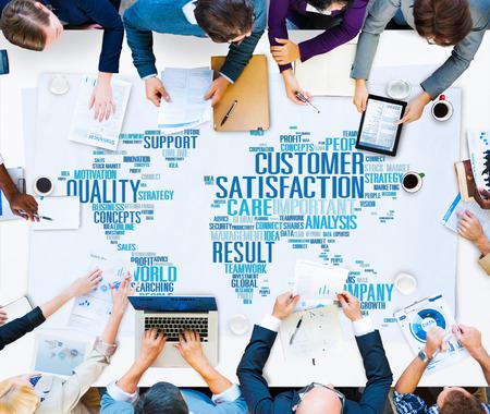 Kundenzufriedenheit Zuverlässigkeit Qualität Service-Konzept Standard-Bild - 41440208