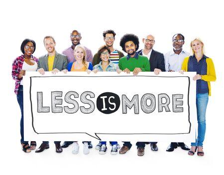 Less is More Minimal Eenvoud Efficiënt Complexiteit Concept Stockfoto