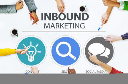 marketing target: Inbound Marketing Commerce Content Social Media Concept