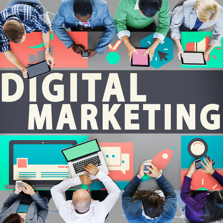 market place: Digital Marketing Commerce Campaign Promotion Concept