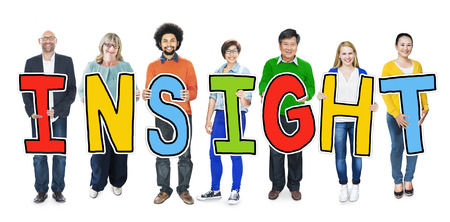 perceive: Group of Diverse People Holding Insight