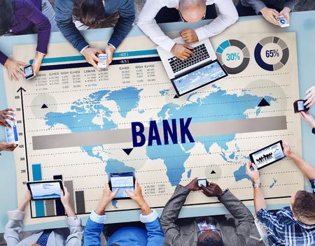金融投資のお金の概念を銀行銀行