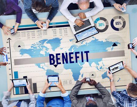 welfare: Benefit Profit Values Welfare Income Concept Stock Photo