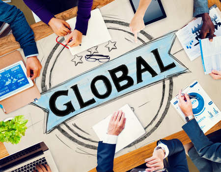 sourcing: Global Globalization Community Communication Concept Stock Photo