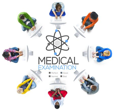 internet network: Medical Examination Check Up Diagnosis Wellness Concept Stock Photo